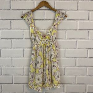 Betsey Johnson Yellow Floral Babydoll Night Gown